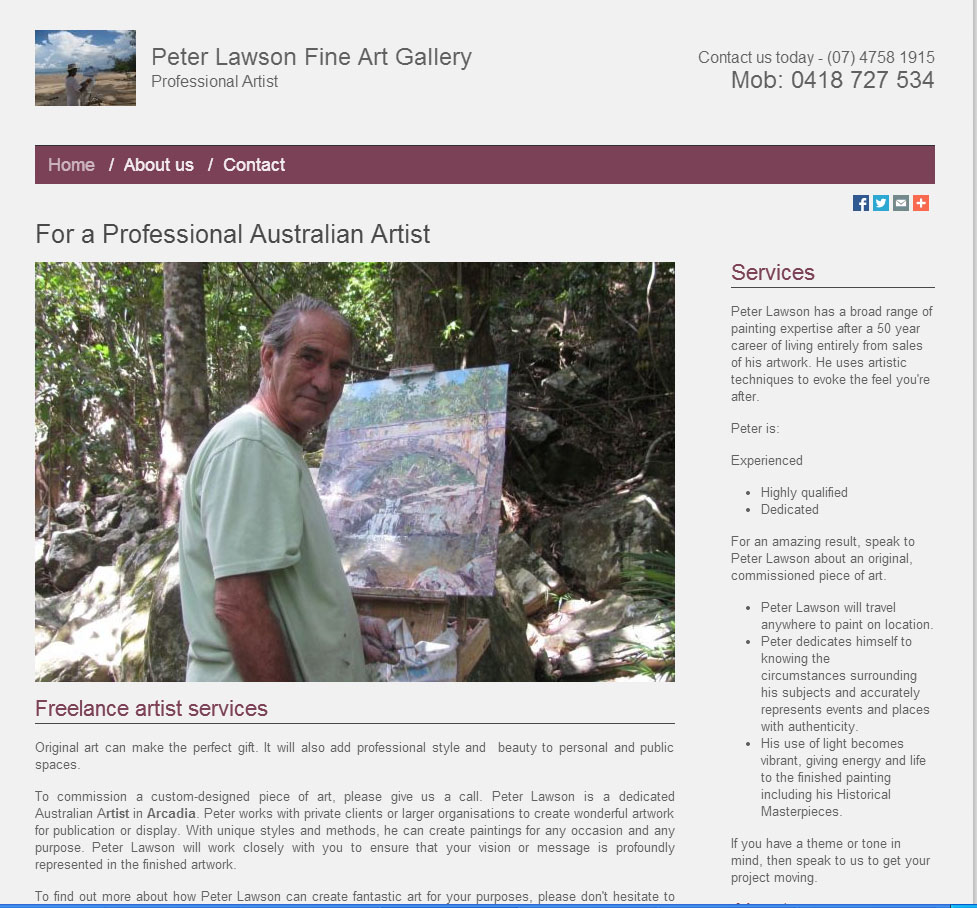 Peter Lawson Website